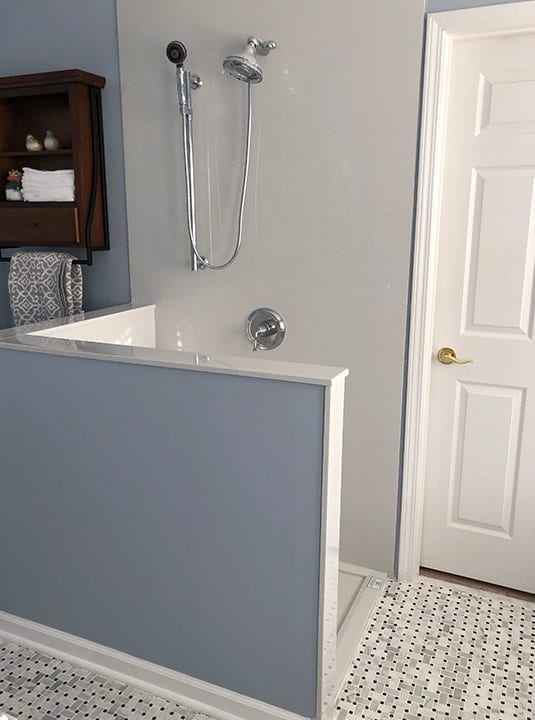 A home that received our DIY online bathroom design services